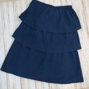 American Eagle outfitters navy blue tiered skirt